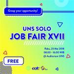Pendaftaran dan Informasi UNS SOLO JOB FAIR XVII (02-03 Mei 2018)