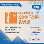 Registrasi Masuk  & Daftar Perusahaan UNS SOLO JOB FAIR XVIII (26-27 September 2018)