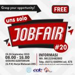 Registrasi Masuk UNS SOLO JOB FAIR XX (25-26 September 2019)