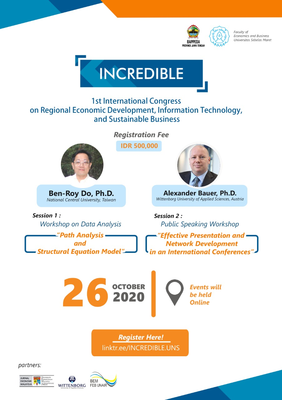 """INCREDIBLE """" 1st International Congress on Regional Economic Development, Information Technology, and Sustainable Business"""""""