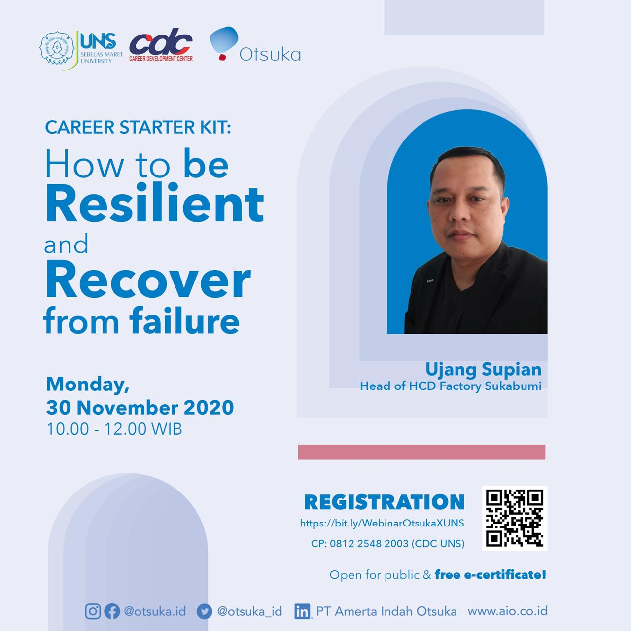 Career Starter kit : How to be Resilient and Recover from Failure